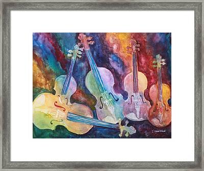 Quintet In Color Framed Print