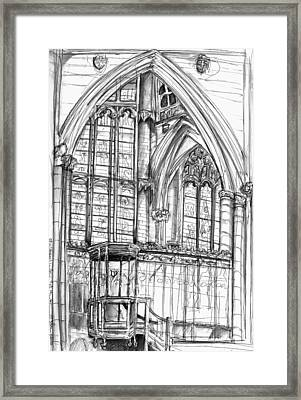 Quire Pulpit York Minster Framed Print by Yvonne Lynn