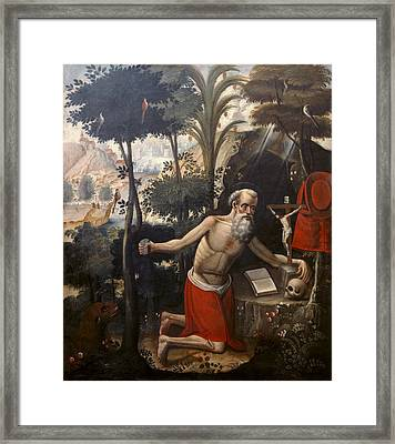 Quispe Tito, Diego 1611-1681. Saint Framed Print by Everett