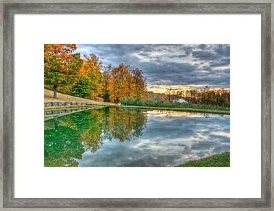 Quit Reflection Framed Print