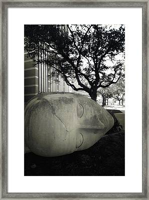 Quit While U R A  Head Framed Print by Robert McCubbin