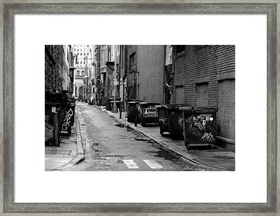 Quite Alley After The Rain Framed Print