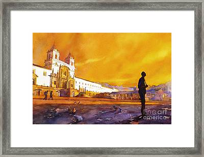 Quito Sunrise Framed Print by Ryan Fox