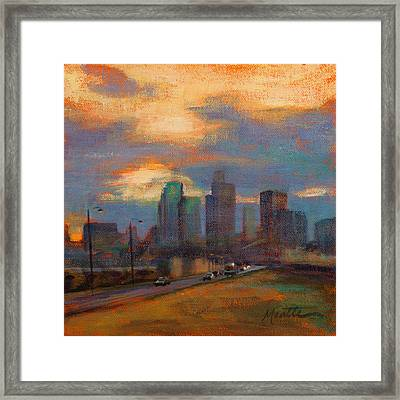 Quitting Time Framed Print by Athena  Mantle
