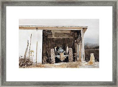 Quitting Time Framed Print by Monte Toon