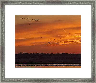 Framed Print featuring the photograph Quivira Sunset 1 by Rob Graham