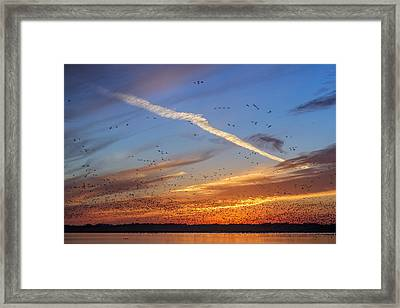 Framed Print featuring the photograph Quivira Sunset 2 by Rob Graham