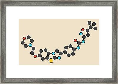 Quizartinib Drug Molecule Framed Print by Molekuul