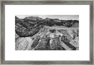 Qumran Caves Bw Framed Print