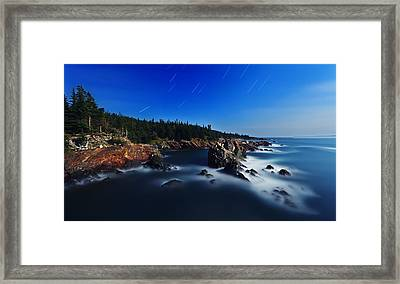 Quoddy Coast By Moonlight Framed Print by ABeautifulSky Photography