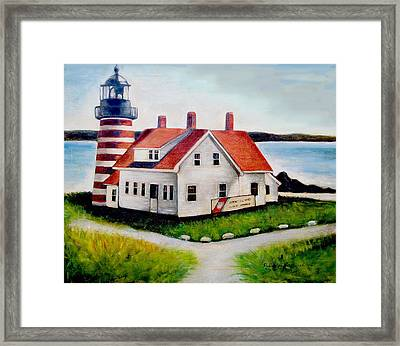 Quoddy Lighthouse Maine Framed Print by Melinda Saminski