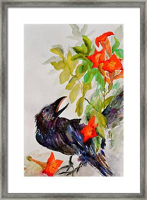 Quoi Framed Print by Beverley Harper Tinsley