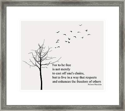 Quote- Nelson Mandela Framed Print by Trilby Cole