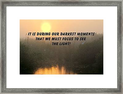 Quote On Sunrise-1 Framed Print by Rudy Umans