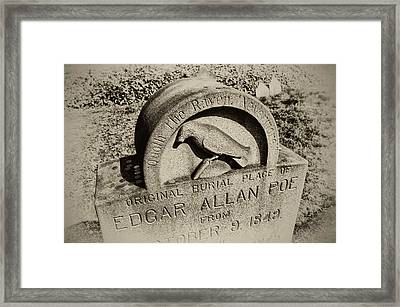 Quoth The Raven - Nevermore Framed Print by Bill Cannon