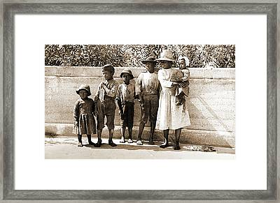 &quotsix Little Pickaninnies&quot, Jackson, William Henry Framed Print by Litz Collection