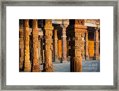 Qutab Minar Hall Framed Print