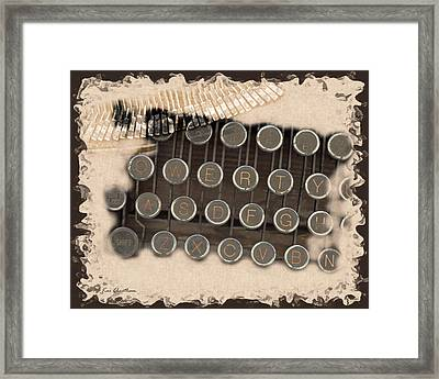 Qwerty Old Style Framed Print