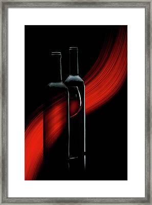 R. E. D. Framed Print