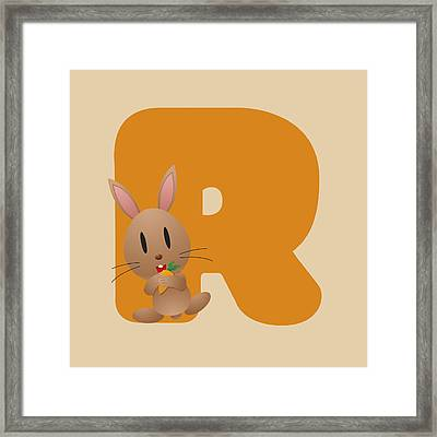 R Framed Print by Gina Dsgn