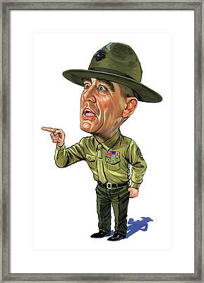 R. Lee Ermey As Gunnery Sergeant Hartman Framed Print by Art