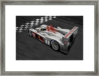 R10 Le Mans Framed Print by Peter Chilelli