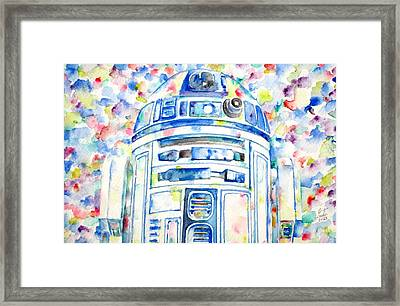 R2-d2 Watercolor Portrait.1 Framed Print