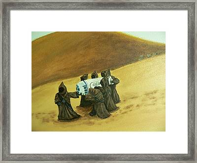 R2d2 And Jawas Framed Print