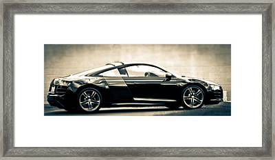 R8 Dreams In Black And White Framed Print