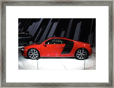 R8 In Red Framed Print by Alan Look