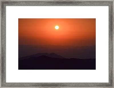 Ra Over Appalachia 3 Framed Print