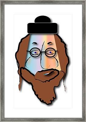 Framed Print featuring the digital art Rabbi David by Marvin Blaine