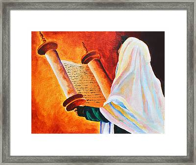 Rabbi Framed Print by Dawnstarstudios