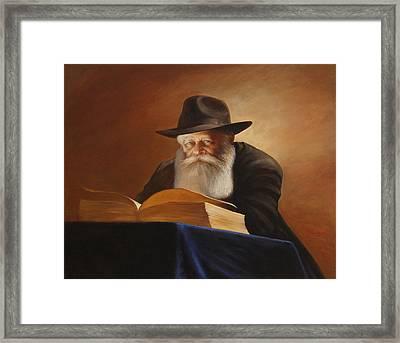 Rabbi Framed Print by Felix Freudzon