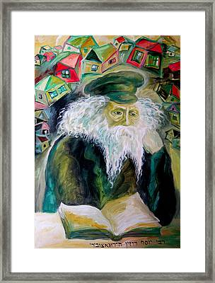 Rabbi Yosef Rosen The Rogatchover Gaon Framed Print by  Leon Zernitsky