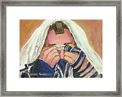 Rabbi's Prayer For The Sabbath Framed Print by Carole Spandau