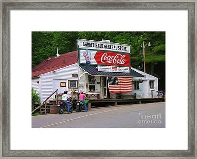 Rabbit Hash General Store Framed Print by Tom Griffithe