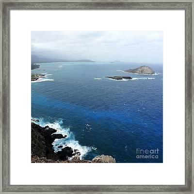 Framed Print featuring the photograph Rabbit Island Hawaii by Mukta Gupta
