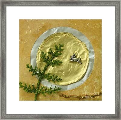 Rabbit Moon Framed Print