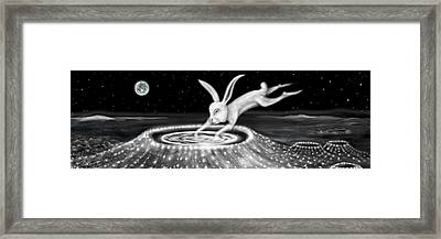 Rabbit On The Moon Framed Print by Jerod  Kytah