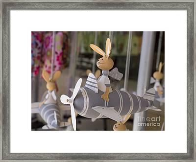 Rabbits Can Fly Framed Print by Gillian Singleton