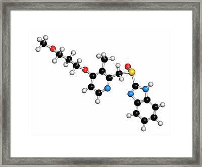 Rabeprazole Gastric Ulcer Drug Molecule Framed Print