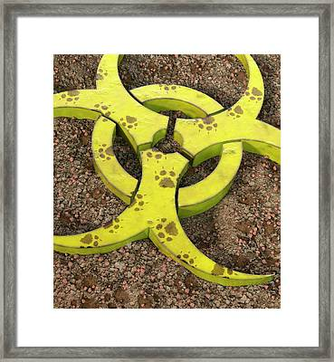 Rabies Virus Framed Print by Animated Healthcare Ltd