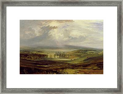 Raby Castle Framed Print by Joseph Mallord William Turner