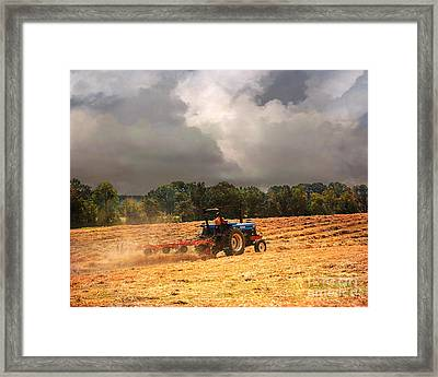 Race Against The Storm Framed Print