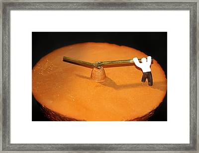 Race Against Time Framed Print
