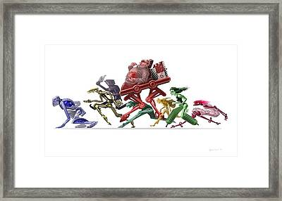 Race Framed Print