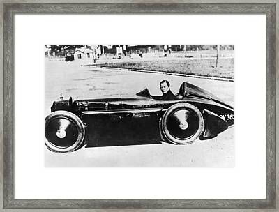 Race Car Driver Gwenda Stewart Framed Print by Underwood Archives