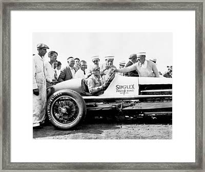 Race Car Driver Ray Keech Framed Print