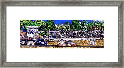 Race Car Framed Print by Pablo Franchi